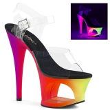 Variopinto 18 cm MOON-708UV Sandalias Mujer Plataforma Neon