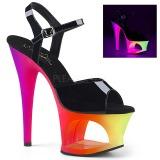 Variopinto 18 cm MOON-709UV Sandalias Mujer Plataforma Neon