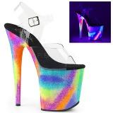 Variopinto 20 cm FLAMINGO-808GXY Sandalias Mujer Plataforma Neon
