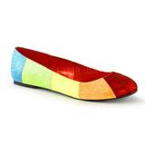 Variopinto STAR-18G brillo zapatos de bailarinas mujer planos