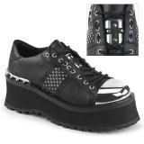 Vegan 7 cm GRAVEDIGGER-02 Zapatos de Goticas Hombres Plataforma