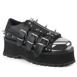 Vegan 7 cm GRAVEDIGGER-03 Zapatos de Goticas Hombres Plataforma
