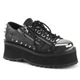 Vegan 7 cm GRAVEDIGGER-04 Zapatos de Goticas Hombres Plataforma