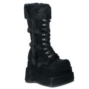 Vegano 11,5 cm BEAR-202 demonia botas alternativo plataforma negro