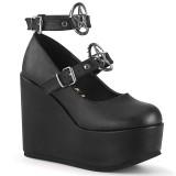 Vegano 12,5 cm POISON-99-1 zapatos de salón con cuña plataforma