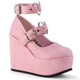 Vegano 12,5 cm POISON-99-2 zapatos de salón con cuña plataforma