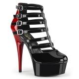 Vegano 15 cm DELIGHT-695 botines de tobillo y plataforma