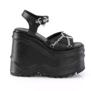 Vegano 15 cm Demonia WAVE-09 lolita zapatos sandalias con cuña alta plataforma