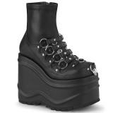 Vegano 15 cm WAVE-110 botines de tobillo con cuña alta y plataforma