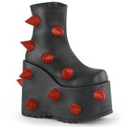 Vegano 18 cm SLAY-77-2 Demonia botines alternativo plataforma negro