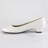 Vegano 3 cm GWEN-01 zapatos de salón para hombres y drag queens blanco