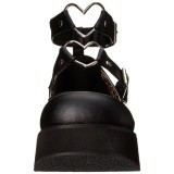 Vegano 6 cm DEMONIA SPRITE-02 zapatos de salón mary jane negros