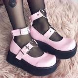 Vegano 6 cm DEMONIA SPRITE-02 zapatos de salón mary jane rosa