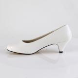 Vegano 6 cm FEFE-01 zapatos de salón para hombres y drag queens blanco