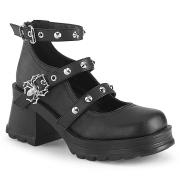 Vegano 7 cm Demonia BRATTY-07 zapatos plataforma chunky tacones