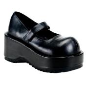 Vegano 8,5 cm DEMONIA DOLLIE-01 zapatos de salón mary jane negros