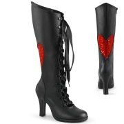 Vegano 9,5 cm GLAM-243 demonia botas alternativo negro
