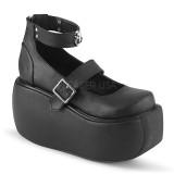 Vegano 9 cm DEMONIA VIOLET-32 zapatos de salón mary jane plataforma
