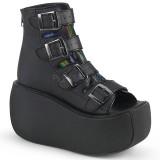 Vegano 9 cm VIOLET-150 botines de tobillo punta abierta