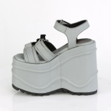 Vegano Neon 15 cm Demonia WAVE-13 lolita zapatos sandalias con cuña alta plataforma