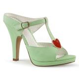 Verde 10 cm retro vintage SIREN-09 Mulas Tacones Altos Mujer