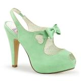 Verde 11,5 cm BETTIE-03 Pinup zapatos de salón con plataforma escondida