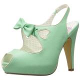 Verde 11,5 cm retro vintage BETTIE-03 Pinup zapatos de salón con plataforma escondida