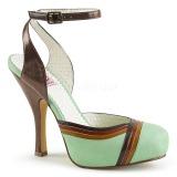 Verde 11,5 cm retro vintage CUTIEPIE-01 Pinup sandalias con plataforma escondida