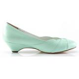 Verde 4 cm LULU-05 Pinup zapatos de salón tacón bajo