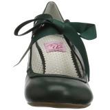 Verde 6,5 cm WIGGLE-32 Pinup zapatos de salón tacón ancho