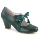 Verde 6,5 cm WIGGLE-32 retro vintage zapatos de salón maryjane tacón ancho