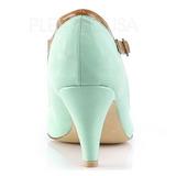 Verde 8 cm retro vintage PEACH-03 Pinup zapatos de salón tacón bajo