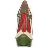 Verde Beige 14,5 cm Burlesque TEEZE-43 Zapatos de tacón altos mujer
