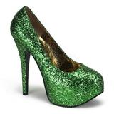 Verde Brillo 14,5 cm Burlesque BORDELLO TEEZE-06G Plataforma Zapatos de Salón