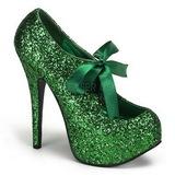 Verde Brillo 14,5 cm Burlesque TEEZE-10G Platform Calzado de Salón