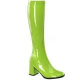 Verde Charol 8,5 cm GOGO-300 Botas de mujer para Hombres