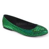 Verde MERMAID-21 bailarinas zapatos planos mujer