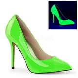 Verde Neon 13 cm AMUSE-20 zapatos tacón de aguja puntiagudos