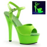 Verde Neon 15 cm Pleaser KISS-209UV Plataforma Tacones de Aguja