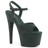 Verde Polipiel 18 cm ADORE-709FS sandalias de tacón alto