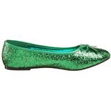 Verde STAR-16G brillo zapatos de bailarinas mujer planos
