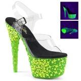 Verde neon 18 cm Pleaser ADORE-708NSK Zapatos con tacones pole dance