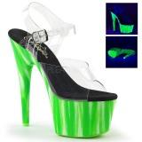 Verde neon 18 cm Pleaser ADORE-708UVP Zapatos con tacones pole dance