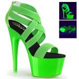 Verde neon 18 cm Pleaser ADORE-769UV Zapatos con tacones pole dance