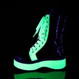 Verde neon 5 cm EMILY-350 botines cyberpunk plataforma