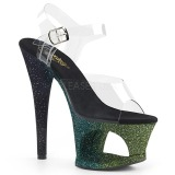 Verde purpurina 18 cm Pleaser MOON-708OMBRE Zapatos con tacones pole dance