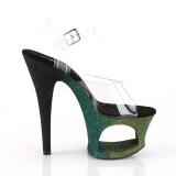 Verde purpurina 18 cm Pleaser MOON-708OMBRE Zapatos con tacones pole dance