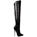 Vinilo 16 cm DAGGER-3060 Largas botas altas fetiche brillante