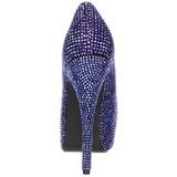 Violeta Piedras Strass 14,5 cm Burlesque TEEZE-06R Plataforma Zapato Salón