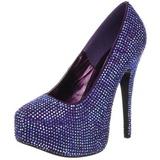 Violeta Piedras Strass 14,5 cm TEEZE-06R Plataforma Zapato Salón